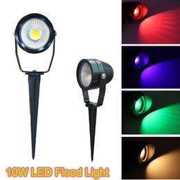 $enCountryForm.capitalKeyWord Australia - 10W COB LED Projector Spike Light AC85-265V 12V LED Path Spot Light Outdoor Waterproof LED Lawn Light Garden Landscape Lamp 10pcs