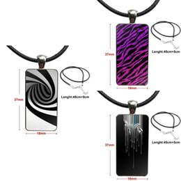 zebra pendants Australia - Zebra Stripe Top Detailed For Girls Gift Glass Cabochon Pendant Necklace Rectangle Fashion Necklace