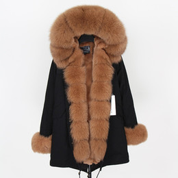 1f63d468 Norway parka online shopping - Norway hot sale caramel fox fur Threshold  trim ladies snow coats