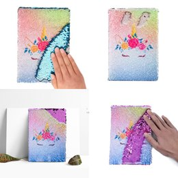 Stationery Mini Notepads Australia - Glitter Notebooks Sequins Unicorn Diary Memos Stationery Notepad Creative Office School Supplies Various Styles A5 9xw F1