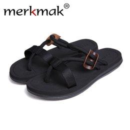 $enCountryForm.capitalKeyWord Australia - Merkmak Brand Men's Slippers Breathable Summer Beach Shoes High Quality Casual Men's Beach Slippers 2019 New Adult lover shoes