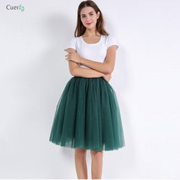 Satin layer Skirt online shopping - 5 Layers Skirts Tulle Princess Midi Cm Skirt Pleated Dance Tutu Womens Lolita Petticoat Jupe Saia Faldas Denim Skirts