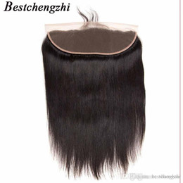 lace frontal pieces Australia - Brazilian Straight Human Hair Ear to Ear Lace Frontal Closure Body Wave 13X4 Free Part With Baby Hair Brazilian Deep Wave Remy Hair
