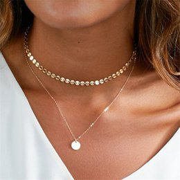 $enCountryForm.capitalKeyWord Australia - New Fashion Necklace Ladies Multi-layer Necklace Gold Colour Sequined Multi-layer Pendant Necklace