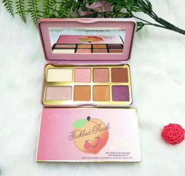 Peach Eyeshadow Australia - FAST DHL Lloving COSMETIC Sugar Cookie or Tickled Peach Mini 8-color Eyeshadow Palette WITH SMELL beauty Shimmer