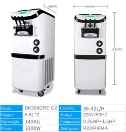 CommerCial stands online shopping - Floor standing Soft ice cream machine Three Heads Stainless Steel Digital Control Commercial Ice Cream Maker Yield L H V