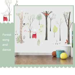 $enCountryForm.capitalKeyWord Australia - Large Music forest Wall Sticker Cartoon Home Decor DIY bedroom kids room Nursery Background Mural art Decals poster sticker