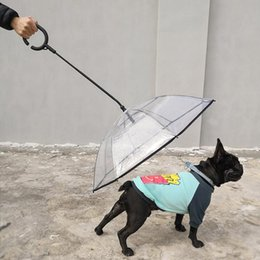 Dogs Gear Australia - 2019 Transparent PE Pet C umbrella Small Dog Puppy Umbrella Rain Gear with Dog Leads Keeps Pet Travel Outdoors Supplies