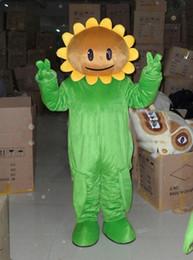 Wholesale mascot costume sun online – ideas Professional custom Sunflower Mascot Costume Cartoon Sun flower Character Clothes Christmas Halloween Party Fancy Dress