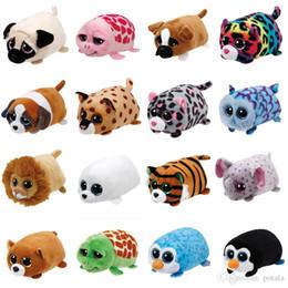 16ad7aaa1bf 4inch TY Beanie Boo teeny tys Plush Icy the Seal 10cm TY lion Elephant Big  Eyes Plush Toy Doll tortoise giraffe dog Panda Baby Kids Gift