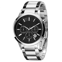 China Hot Selling Top luxury watch New Stainless Steel Classic Mens Business Wristwatch Men Fashion stop Top quality Sport Watch Gift Box DropShip supplier sports stop watches suppliers
