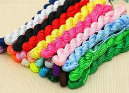 wired chinese knot NZ - CHEAP!!! 30meters Nylon Chinese Knot Cord for braid Jewelry Beading Thread Bracelet String 1mm