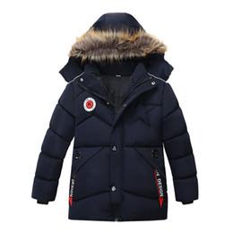 BaBy Boy velvet jacket online shopping - Fur Hooded Kids Jackets For Boys Fleece Winter Parkas Long Thick Warm Velvet Children s Coat Baby Outerwear Infant Overcoat