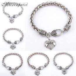 $enCountryForm.capitalKeyWord Australia - clear heart charm Bracelets bracelet for woman vintage rolo Chain Bracelet love statement Bracelet mom nana mimi sister grandma