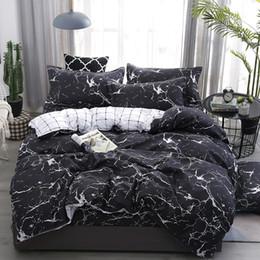 Dark grey beDDing online shopping - bedding set New Geometric duvet cover set flat sheet black bed linen leaf bed AB side home decor grey bedclothes57