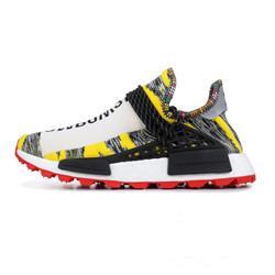 e8380bff2 Original NMD Human Race Pharrell Williams X BBC Yellow Black Nerd Sports  Running Shoes designer Men Shoes Women sneakers
