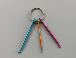 painting quilts UK - New Textiles 3 sizes in 1 Set Keychain Hooks, DIY Multicolour Crafts Knitting Needles Mini Aluminum Crochet Hook