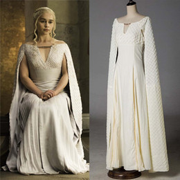 $enCountryForm.capitalKeyWord Australia - Game of Thrones Daenerys Targaryen Costumes Trendy Clothing Cosplay Dress White Long Halloween Party Dress Ball Gowns for Women