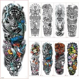 wholesale body sexy tattoos NZ - Women Men Unisex Waterproof Temporary Tattoos Stickers Body Art Fake Tattoos Sexy Arm Stickers Removable for Men Women