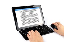 Tablet 4.4 Bluetooth Inch Australia - New Bluetooth keyboard with support frame scissors foot button + Bluetooth mouse for Xiaomi mi pad 4 plus 10.1-inch Tablet PC