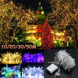 string lights au plug Canada - 10  20  30  50m Colorful Led String Light Waterproof Ip65 Outdoor Garden Fairy Wedding Party Decor Lamp Au Plug Ac220v
