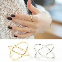 Hollow Fingers Australia - hot fashion of the new X thermal model of finger for women surrounding three-dimensional hollow ring cross free shipping