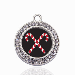 Chinese  Candy Cane Circle Charm Cute Heart Suspension Charms Pendants Accessories For Women Kids DIY Jewelry Making manufacturers