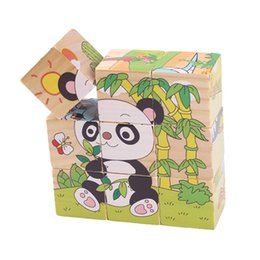 Cube jigsaw puzzle online shopping - 1pcs Nine Blocks Six sided D Jigsaw Cubes Puzzle Blocks Animals Wooden Toys For Children Kids Educational Toys Funny Games GYH