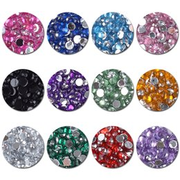 flat back acrylic decoration Australia - 12 Grids Nail Rhinestone Flat Back 2mm Round Rhinestone Colorful Mixed Size Nail Art DIY Design Decoration with Picker Dot Pen