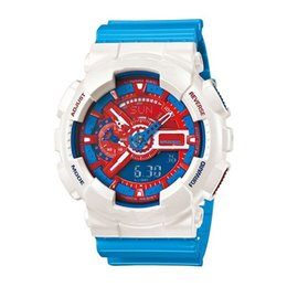New iroN maN watch online shopping - 110 luxury men s watch Iron Man Captain America Marvel limited edition military digital watch LED silicone outdoor sports quartz watch
