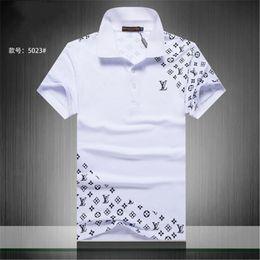 Ingrosso 2019 Nuovi Uomini Designer Polo Camicie da Uomo Tshirt Uomo Abbigliamento Lussuoso Marchio di Ricamo Camicia Uomo Abbigliamento Taglia con M-3XL Streetwear