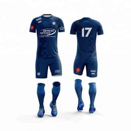 6f28b066 Audlt Football jerseys kids men blank soccer jerseys shirts boys child  button Futbol Training Uniforms jersey set