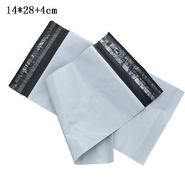 $enCountryForm.capitalKeyWord NZ - 14x28+4cm Plastic Courier Mailing Package Bag Post Envelope Shipping Bags Self Adhesive White Plastic Mailer Packaging Pouch Retail 100pcs