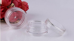 free empty 3g pots UK - 3g Cosmetic Empty Jar Free shipping 100pcs lot Pot Eyeshadow Makeup Face Cream Lip Balm Container Bottle cosmetic bottle packaging