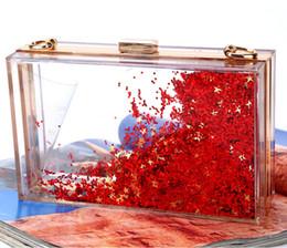 $enCountryForm.capitalKeyWord Australia - Evening bag double-sided liquid quicksand acrylic bag lady's translucent evening dress clutch Party BAg