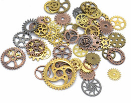 $enCountryForm.capitalKeyWord NZ - 100pieces lot Vintage Metal Steampunk Charms Diy Fashion Accessories Clock Gear Pendant Charms for Jewelry Making