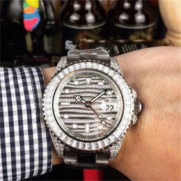 $enCountryForm.capitalKeyWord Australia - Full diamond Luxury watch 40mm automatic Mens Watches Rotating bezel fashion designer wristwatches 316 stainless steel iced out watch