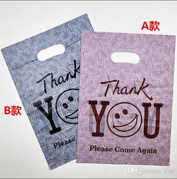 Recyclable plastic packaging online shopping - quot thank you quot Printed Plastic Recyclable Useful Packaging Bags Shopping Hand Bag Protable Boutique Gift Carrier