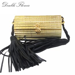 $enCountryForm.capitalKeyWord Australia - Black Tassel Dollar Hasp Hard Case Mini Women Gold Acrylic Evening Clutch Bag Party Prom Handbag Purse Crossbody Messenger Bag Y190627