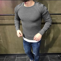 V Neck Pullover Jacket Australia - good quality Sweater Men O Neck Pullover Jacket Long Sleeve Slim Fit Tops Jumper Mens Wear Sweaters 2019