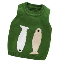 $enCountryForm.capitalKeyWord NZ - Fashion Baby Boys Soft Knitted Cartoon Fish Sweater Vest For Boys Cotton Warm Autumn Winter Clothing