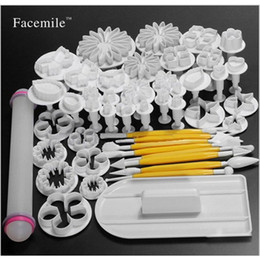 cake decorating tools plunger cutters Australia - 46pcs set Sugarcraft Cake Decorating Mold Fondant Plunger Cutters Tools Flower Set Cookies Full Set Mold Cake Shop Baking Molds J190722