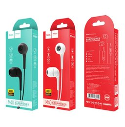 hoco iphone 2019 - M34 M40 HOCO Wired In-ear Earphone 3.5mm Bass Stereo Sport With Microphone Earphones for iphone xiaomi mobile phone mp3