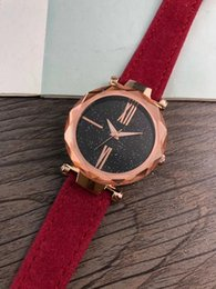 Wholesale Fashion brand ladies high quality starry table larsson jennings dress quartz watch matte leather stainless steel bezel sports watch