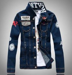 Korean Slim Clothes Male Australia - New Korean denim jacket male Slim washed denim Outerwear Coats jacket men's Clothing rivet denim shirt