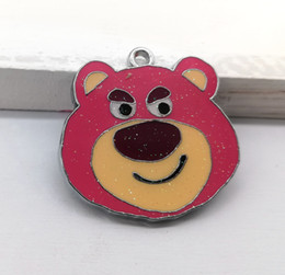 Anime Charms Wholesale Australia - Wholesale mixed Ocean wind anime bear DIY Metal pendants Charms Jewelry Making Gifts