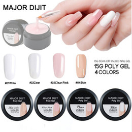 Nails buildiNg online shopping - New Arrival ML Crystal Polygel Camouflage Colors Fiber Glass Hard Jelly Quick Building Nail Extend Poly Gel