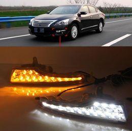 Wholesale 1 Pair DRL For Nissan Teana Altima 2013 2014 2015 2016 Daytime Running Lights fog lamp cover headlight 12V Daylight