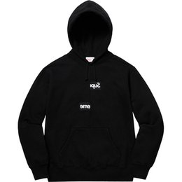 d044c3db SUP Supre CDG hoodies mens box logo hooded sweatshirt 18FW disassemble  stitching joint name New Suprme sweater hoodie womens