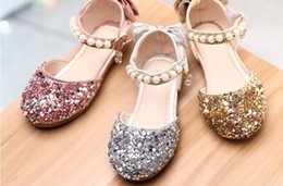 $enCountryForm.capitalKeyWord NZ - 2019 New girls' stylish sequined princess shoes bow sequin priness sandals cuhk crystal leather shoes for girls